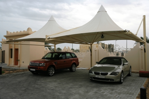 PVC Car Parking Shades Suppliers | Abu Dhabi