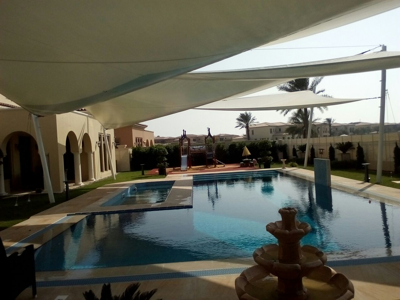 swimming pool shade structures