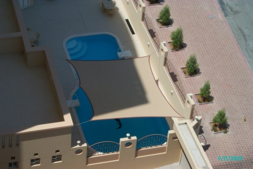Swimming Pool Shades - Al Ameera Tents & Shades