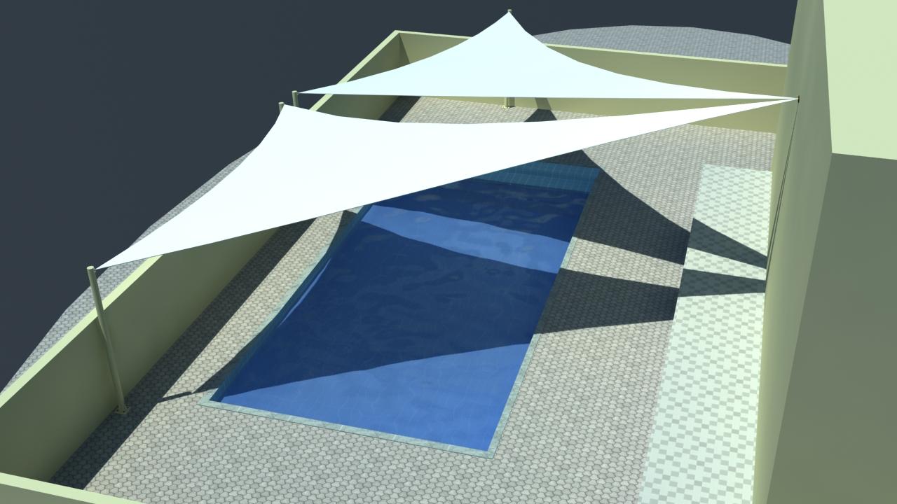 Swimming Pool Shade Structures UAE | Sail Shade Abu Dhabi ...