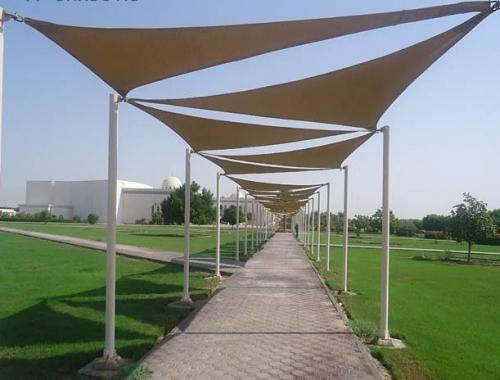 Walk Way Fabric Shades