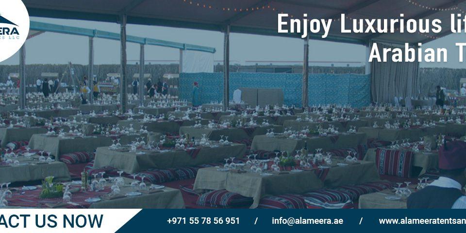 enjoy luxurious arabian tents