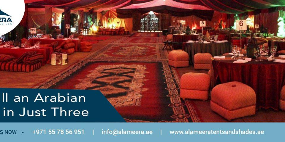 Install an Arabian Tent in Just Three Steps