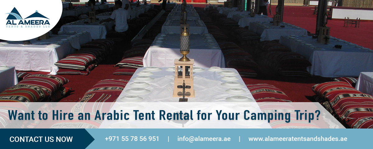 hire an arabic tent rental for camping-trip