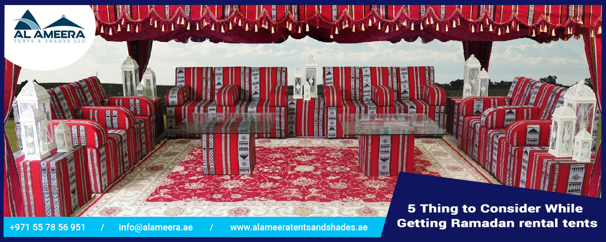 5 Thing to Consider While Getting Ramadan Rental Tents
